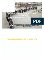Glevum Afghanistan Presidential Election 2014 Wave One Survey Findings