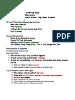 study of biology teachernotes