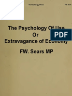 The Psychology of Use FW Sears