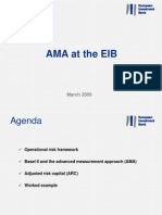Operational Risk AMA at the EIB