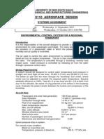 AERO3110 - Aerospace Design - Systems Assignment -S2 2013(1)