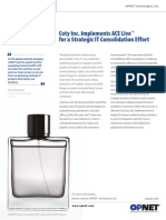 Coty uses AppResponse Xpert [ACE Live] for IT consolidation effort