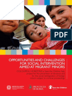 Opportunities and Challenges for Social for Intervention Aimed at Migrant Minors