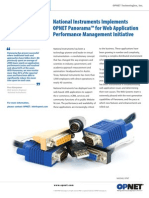 National Instruments uses Applnternals Xpert [OPNET Panorama] for web app performance management