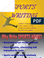 Presentation on Sports Writing 2013-14