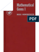 Ross Honsberger- Mathematical Gems.vol. I