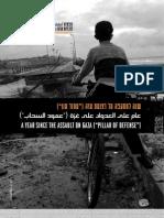 """عام على العدوان على غزة (""""عمود السحاب"""")"""