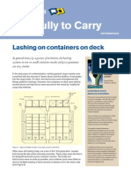 Lashing Containers on Deck