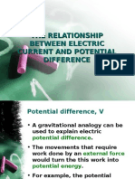 The Relationship Between Electric Current and Potential Difference