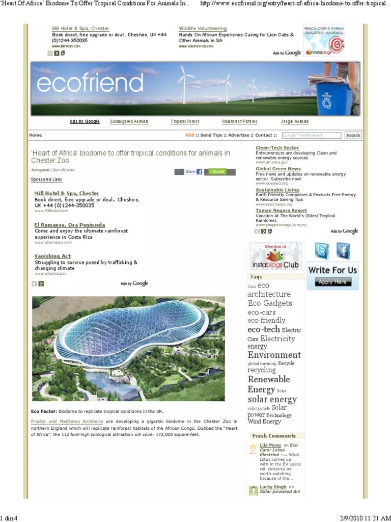 Heart Of Africa Biodome T Tropics Renewable Energy - Heart-of-africa-biodome-at-chester-zoo