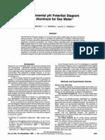 pH Potential Diagram of Aluminum for Sea Water*