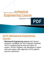 GATE Mechanical course