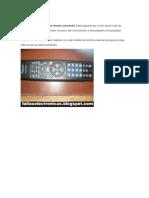 Cómo programar control remoto universal