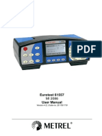 Eurotest 61557 User Manual