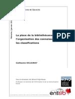 48579 La Place de La Bibliotheconomie Dans l Organisation Des Connaissances Et Les Classifications