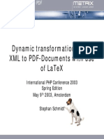 Dynamic Transformations From XML to PDF Documents