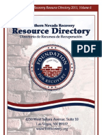 2011 Southern Nevada Recovery Resource Directory