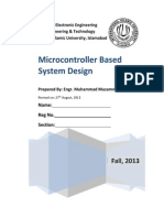 1-Microcontroller Based System Design - Complete