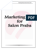 marketing plan for salon praba-120115083508-phpapp02