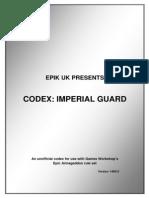 Epic UK Codex Imperial Guard