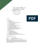Gestire la Bibliografia con LaTeX