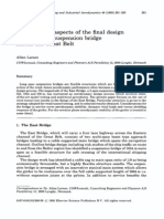 Aerodynamic Aspects of the Final Design of the 1624 m Suspension Bridge Across the Great Belt