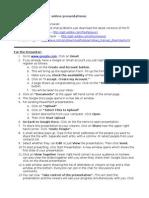 Google Docs Presentation Instructions