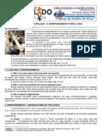 LIÇÃO 01 - DISCIPULADO -  O ARREPENDIMENTO PARA A VIDA