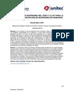 El arbitraje de inversiones del CIADI y la Ley para la Promoción y Protección de Inversores en Honduras