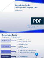 Describing Test Tasks