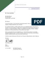 Dr. Plunkett Ltr 91012