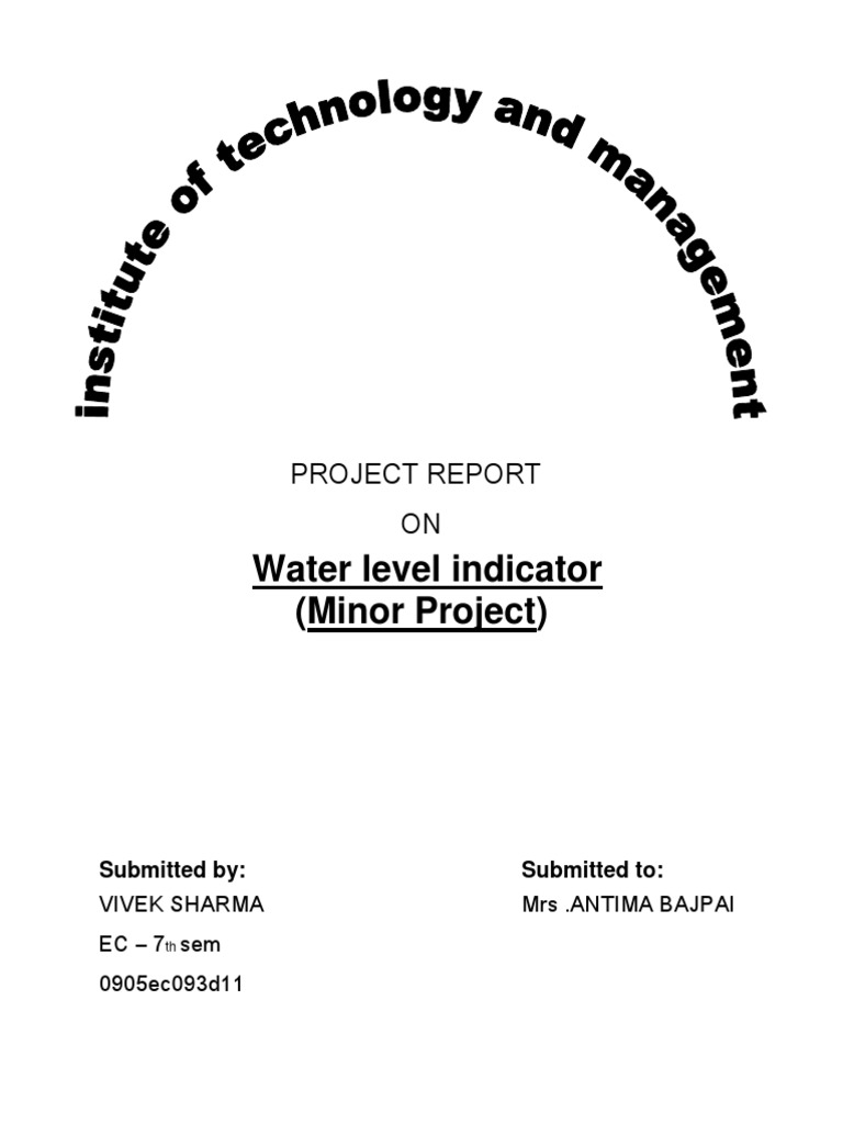 PROJECT REPORT ON WATER LEVEL INDICATOR docx | Printed