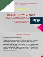 VII.1 DISEÑO DE PAVIMENTOS RIGIDOS, METODO AASHTO