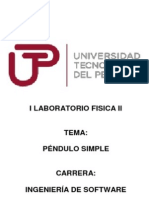 Péndulo Simple Fisica 2