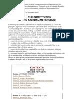 The Constitution of Azerbaijan Republic