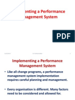 implementing performance management system