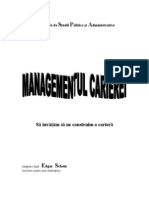Managementul Carierei - Edgar Schein