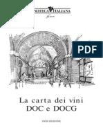 Carta Vini DOC DOCG Enoteca Italiana