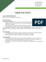 healthy fats handout 2