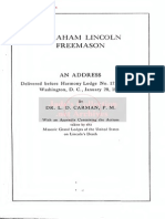 Abraham Lincoln, Freemason - An Address Before the Lodge (1914) (32 Pgs)