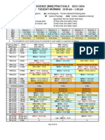 Student Practical Timetables