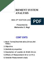MSA Presentation by M Negi 31.01.09
