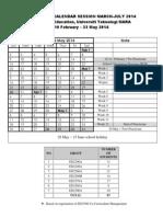 Prpractacticum Calendar Semester Mac-July 2014
