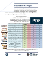 protein bar handout for dialysis