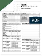 Spycraft Character Sheet