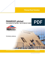 NBT Pavatex Pavaroof Isolair Board (Pitched) - Technical Manual