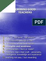 Describing Good Teachers