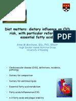 CVD, Diet and Omega-3 - Anne Minihane