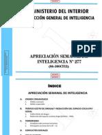 Mininter - Apreciacion de Inteligencia 277 Del 04-10oct13