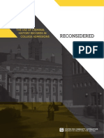 Reconsidered Criminal Hist Recs in College Admissions